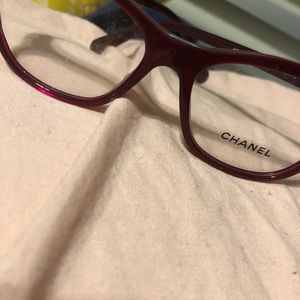 Chanel Red cat eyes reading glasses 3341